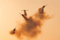 Команда демонстрации высшего пилотажа лезвий Стоковое Изображение RF