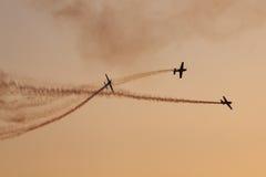 Команда демонстрации высшего пилотажа лезвий Стоковые Фотографии RF