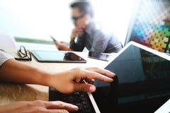 Команда дела встречая настоящий момент Worki профессионального инвестора фото Стоковые Фотографии RF