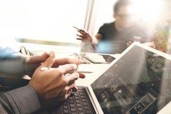 Команда дела встречая настоящий момент Worki профессионального инвестора фото Стоковые Фото