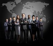 Команда дела сформированная молодых бизнесменов Стоковые Фотографии RF