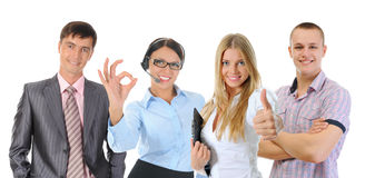 команда дела счастливая сь Стоковое Изображение
