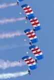 Команда дисплея парашюта соколов Стоковые Изображения
