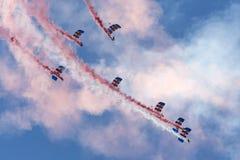 Команда дисплея парашюта соколов Стоковое Изображение RF