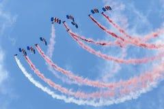 Команда дисплея парашюта соколов Стоковое Фото
