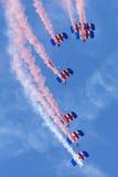 Команда дисплея парашюта соколов Стоковое Изображение