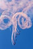 Команда дисплея парашюта соколов Стоковое фото RF