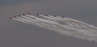 Команда дисплея стрелок RAF красная Стоковое Изображение
