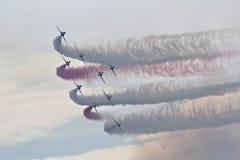 Команда дисплея стрелок RAF красная Стоковое Изображение RF