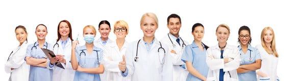 Команда или группа в составе доктора и медсестры стоковое фото rf