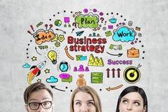 Команда и стратегия бизнеса дела Стоковые Изображения