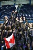 Команда Канада один смешной представлять с трофеем Стоковое Изображение RF