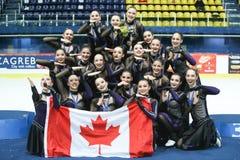Команда Канада одна награда церемонии Стоковые Фото