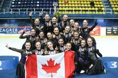 Команда Канада одна съемка группы награды церемонии Стоковая Фотография