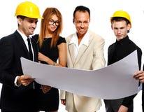 Команда конструкции на деловой встрече Стоковая Фотография