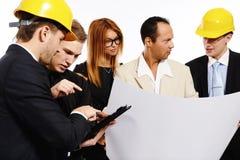 Команда конструкции на деловой встрече Стоковое Изображение