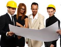 Команда конструкции на деловой встрече Стоковое Изображение RF
