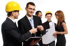 Команда конструкции на деловой встрече Стоковые Изображения