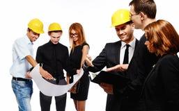 Команда конструкции на деловой встрече Стоковая Фотография RF