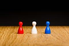 Команда концепции красная белая голубая Стоковое Фото