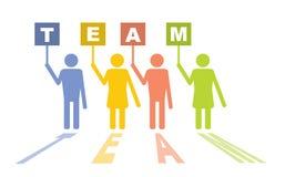 Команда - концепция связи Стоковая Фотография