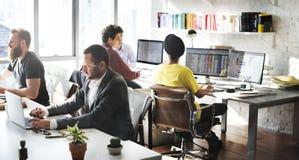 Команда корпоративного бизнеса работая занятая концепция Стоковое фото RF