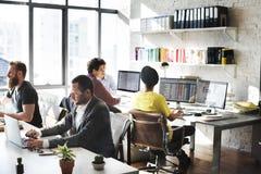Команда корпоративного бизнеса работая занятая концепция Стоковая Фотография