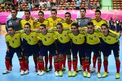 Команда Колумбии национальная futsal Стоковое Фото