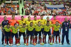 Команда Колумбии национальная futsal Стоковые Фото