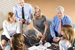 команда мегафона человека повелительницы кофе дела Стоковые Изображения RF