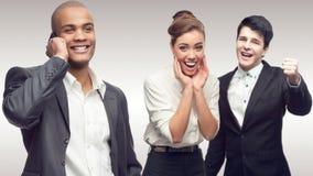 Команда молодых успешных бизнесменов Стоковые Изображения RF