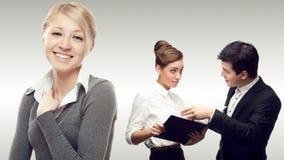 Команда молодых успешных бизнесменов Стоковое Фото