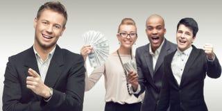 Команда молодых успешных бизнесменов Стоковое Изображение