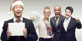 Команда молодых успешных бизнесменов Стоковое Изображение RF