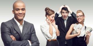 Команда молодых успешных бизнесменов Стоковая Фотография RF