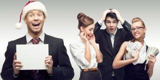 Команда молодых успешных бизнесменов Стоковая Фотография