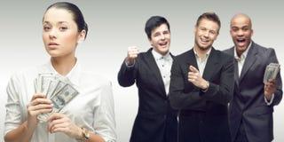 Команда молодых успешных бизнесменов Стоковые Изображения