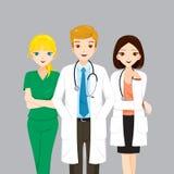 Команда доктора и медсестры Стоковые Изображения