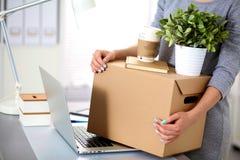 команда офиса предпринимателей счастливая moving Стоковые Изображения RF