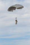 Команда парашюта на авиасалоне турецкой военновоздушной силы Стоковое Изображение