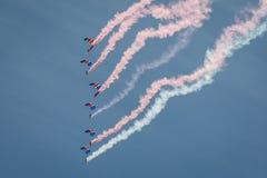 Команда парашюта соколов RAF стоковое фото rf