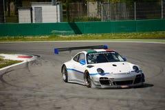 Команда Порше 911 (997) GT3 r Ebimotors на Монце Стоковое Изображение