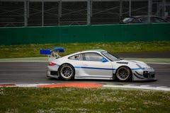 Команда Порше 911 (997) GT3 r Ebimotors на Монце Стоковые Фото