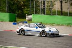 Команда Порше 911 (997) GT3 r Ebimotors на Монце Стоковое Фото