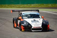 Команда Порше 911 (997) GT3 r Motorsport криптона на Монце Стоковое Фото