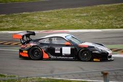 Команда Порше 911 (997) GT3 r Motorsport криптона на Монце Стоковые Фотографии RF