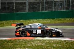 Команда Порше 911 (997) GT3 r Motorsport криптона на Монце Стоковое Изображение RF