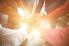 Команда предпринимателей формируя стог руки Стоковые Изображения RF