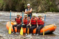 Команда приключения сплавлять реки Whitewater Стоковое Изображение