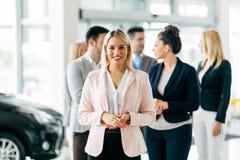 Команда профессиональных salespeople Стоковые Изображения RF